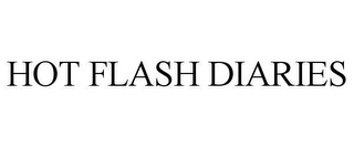 mark for HOT FLASH DIARIES, trademark #85819583