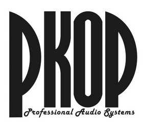 mark for PKOP PROFESSIONAL AUDIO SYSTEMS, trademark #85820622