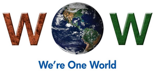 mark for WOW WE'RE ONE WORLD, trademark #85820702