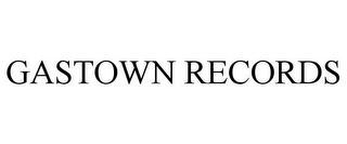 mark for GASTOWN RECORDS, trademark #85820732