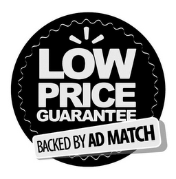 mark for LOW PRICE GUARANTEE BACKED BY AD MATCH, trademark #85820945