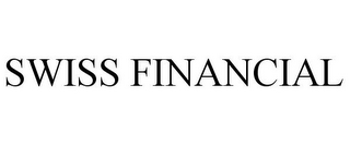 mark for SWISS FINANCIAL, trademark #85821956