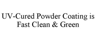 mark for UV-CURED POWDER COATING IS FAST CLEAN &GREEN, trademark #85822403
