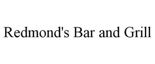 mark for REDMOND'S BAR AND GRILL, trademark #85824012