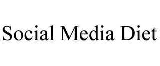mark for SOCIAL MEDIA DIET, trademark #85824985