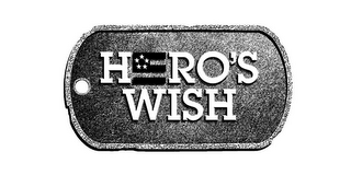 mark for HERO'S WISH, trademark #85827269