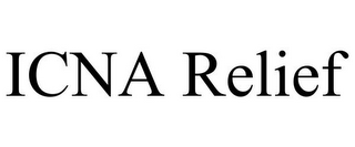 mark for ICNA RELIEF, trademark #85827628