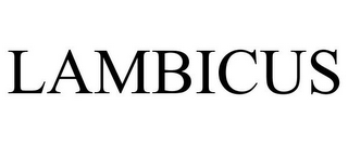 mark for LAMBICUS, trademark #85828260