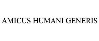 mark for AMICUS HUMANI GENERIS, trademark #85829003