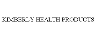 mark for KIMBERLY HEALTH PRODUCTS, trademark #85830210