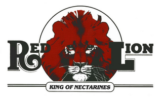 mark for RED LION KING OF NECTARINES, trademark #85830739
