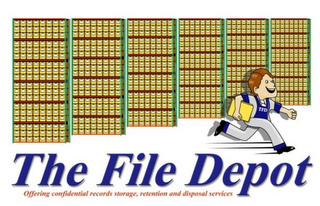mark for THE FILE DEPOT OFFERING CONFIDENTIAL RECORDS STORAGE, RETENTION AND DISPOSAL SERVICES TFD, trademark #85830906