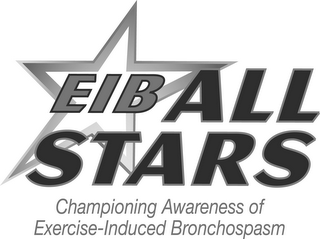 mark for EIB ALL STARS CHAMPIONING AWARENESS OF EXERCISE-INDUCED BRONCHOSPASM, trademark #85831112