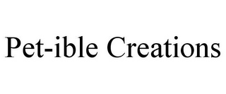 mark for PET-IBLE CREATIONS, trademark #85831920