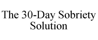 mark for THE 30-DAY SOBRIETY SOLUTION, trademark #85833776