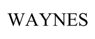 mark for WAYNES, trademark #85833778