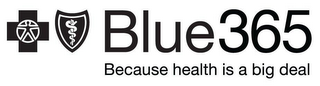 mark for BLUE365 BECAUSE HEALTH IS A BIG DEAL, trademark #85834348