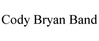 mark for CODY BRYAN BAND, trademark #85834490