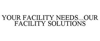 mark for YOUR FACILITY NEEDS...OUR FACILITY SOLUTIONS, trademark #85835083