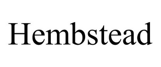 mark for HEMBSTEAD, trademark #85835417