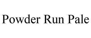 mark for POWDER RUN PALE, trademark #85836292