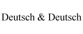 mark for DEUTSCH & DEUTSCH, trademark #85837172
