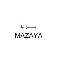 mark for MAZAYA, trademark #85838172