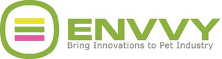 mark for ENVVY BRING INNOVATIONS TO PET INDUSTRY, trademark #85838672