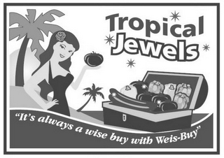 "mark for TROPICAL JEWELS ""IT'S ALWAYS A WISE BUY WITH WEIS-BUY"", trademark #85838720"