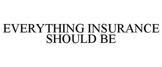 mark for EVERYTHING INSURANCE SHOULD BE, trademark #85838766