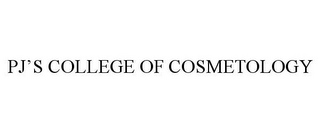 mark for PJ'S COLLEGE OF COSMETOLOGY, trademark #85838920