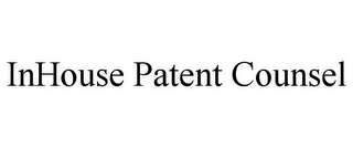 mark for INHOUSE PATENT COUNSEL, trademark #85839594