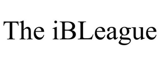 mark for THE IBLEAGUE, trademark #85841011