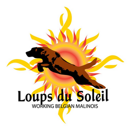 mark for LOUPS DU SOLEIL WORKING BELGIAN MALINOIS, trademark #85841118