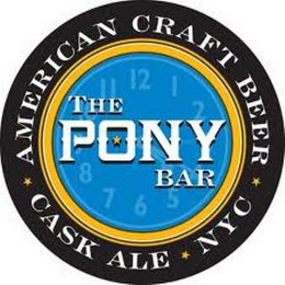 mark for THE PONY BAR AMERICAN CRAFT BEER CASK ALE NYC, trademark #85841263