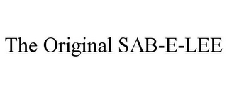 mark for THE ORIGINAL SAB-E-LEE, trademark #85841761