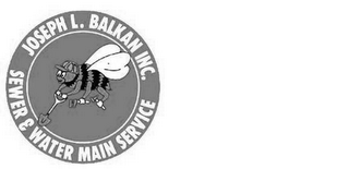 mark for JOSEPH L. BALKAN INC. SEWER & WATER MAIN SERVICE, trademark #85842152