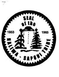 mark for 1953 SEAL OF THE HALIWA-SAPONI TRIBE 1965, trademark #85842263