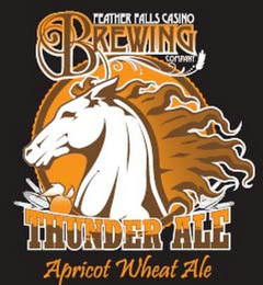 mark for FEATHER FALLS CASINO BREWING COMPANY THUNDER ALE APRICOT WHEAT ALE, trademark #85842329