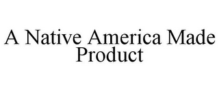 mark for A NATIVE AMERICA MADE PRODUCT, trademark #85842493