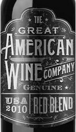 mark for THE GREAT AMERICAN WINE COMPANY GENUINE USA 2010 RED BLEND, trademark #85843042
