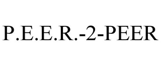 mark for P.E.E.R.-2-PEER, trademark #85843406