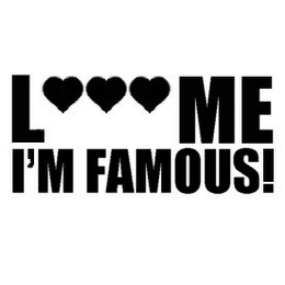 mark for L ME I'M FAMOUS!, trademark #85843448