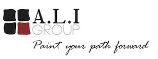 mark for A.L.I GROUP PAINT YOUR PATH FORWARD, trademark #85843888