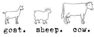 mark for GOAT. SHEEP. COW., trademark #85844094