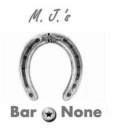 mark for M. J. 'S BAR NONE, trademark #85844665
