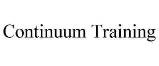 mark for CONTINUUM TRAINING, trademark #85844849