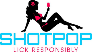 mark for SHOTPOP LICK RESPONSIBLY, trademark #85845736