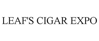 mark for LEAF'S CIGAR EXPO, trademark #85845829