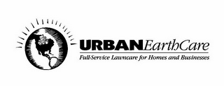 mark for URBANEARTHCARE FULL-SERVICE LAWNCARE FOR HOMES AND BUSINESSES, trademark #85846156